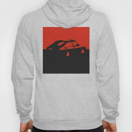Saab 900 classic, Red on Black Hoody