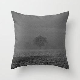 Foggy tree Throw Pillow