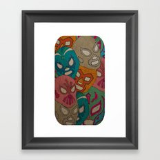 love lucha Framed Art Print