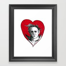 Micheal Myers (All Heart) Framed Art Print