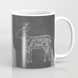 Venison Butcher Diagram (Deer Meat Chart) Coffee Mug