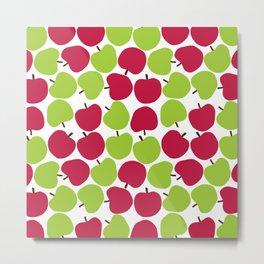 Apple pattern. Metal Print