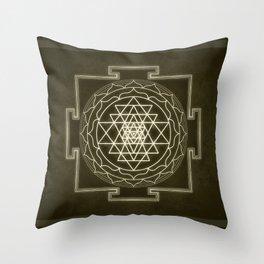 Sri Yantra XI monochrome Throw Pillow