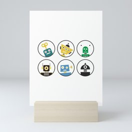 Robot Friends Mini Art Print