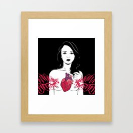 My heart is exploding Framed Art Print