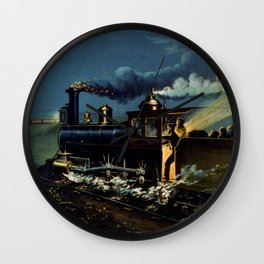 The Danger Signal: Train Scene, Currier & Ives Wall Clock