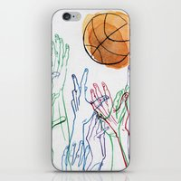 basketball iPhone & iPod Skins featuring Basketball by alrightmike