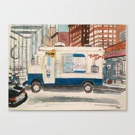 Mr Softee Ice cream truck Canvas Print