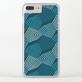 Op Art 64 Clear iPhone Case