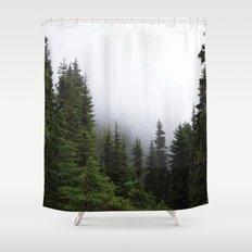 Simplify, simplify Shower Curtain