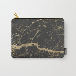 Marble Black Gold - Whistle Carry-All Pouch