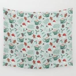 Cottagecore Christmas Sage Wall Tapestry