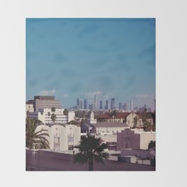 Hollywood to Downtown Los Angeles Throw Blanket