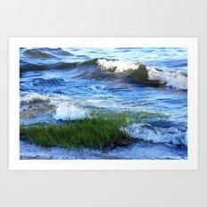Soft Rolling Waves - 2 Art Print