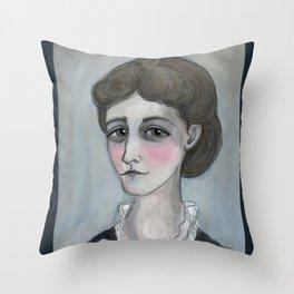The Age of Wharton, Literary Portrait Throw Pillow