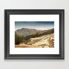 Incan Terraces II Framed Art Print
