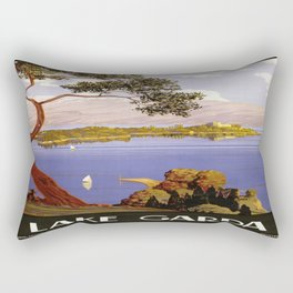 Vintage poster - Lake Garda Rectangular Pillow