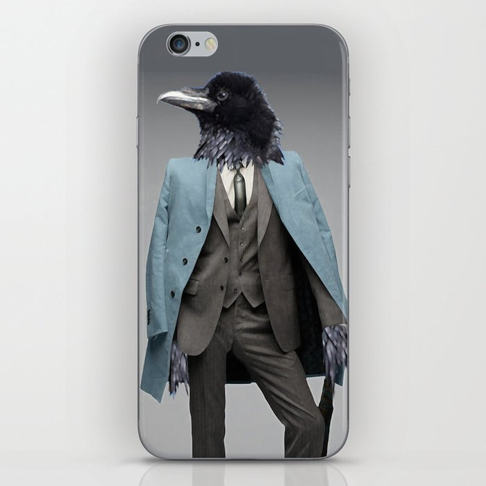 dapper crow iPhone Skin