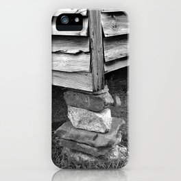 Vintage Black And White Structure iPhone Case