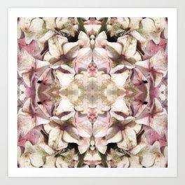 Hydrangea Mandela Caleidoscope Style Art Print