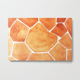 Abstract pattern. Paint brush. Water shaped. Grid similar to a cambered.No.95 Metal Print