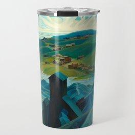 Canadian Landscape Franklin Carmichael Art Nouveau Post-Impressionism A Northern Silver Mine, 1930 Travel Mug