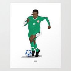 Jay Jay Okocha - Country - Nigeria 1998  Art Print