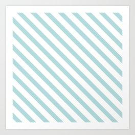 Light Turquoise Blue Stripes Art Print
