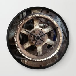 Cotton Gin Motor Belt and Wheels Wall Clock