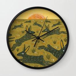 Leaping Bunnies Wall Clock