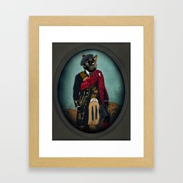 Boris the Bruce, Mouser-in-Chief Framed Art Print