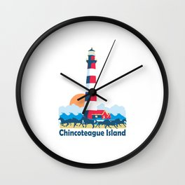 Chincoteague Island - Virgina. Wall Clock