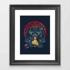 Maneki Dragon Framed Art Print