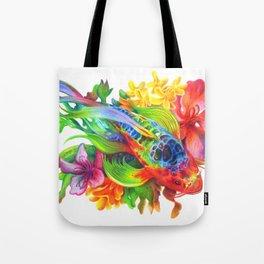 Rainbow Koi Tote Bag