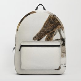 Tyto alba guttata owl illustrated by the von Wright brothers Backpack