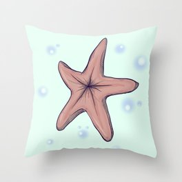 Chocolate Starfish Throw Pillow