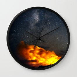 Volcanic Eruption with the Milky Way Wall Clock