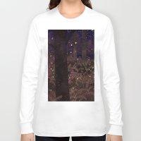 fireflies Long Sleeve T-shirts featuring fireflies by Lara Paulussen