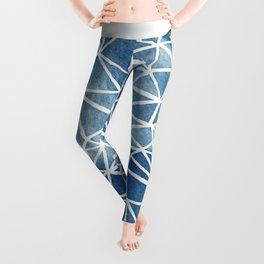 Whole Fractal Marble Blue Leggings
