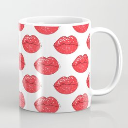 Lips pattern . Coffee Mug