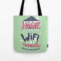 Home Wifi Tote Bag