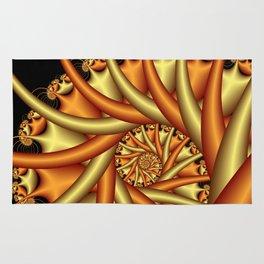 spiral art -b- Rug