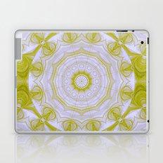 Green and white quilt kaleidoscope Laptop & iPad Skin
