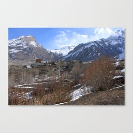 Himalayan Town Of Muktinath Canvas Print