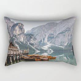 Day at the Mountain Lake Rectangular Pillow