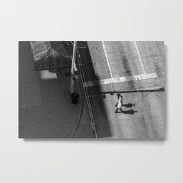 Men Walking Down the Street: Dayton, Ohio Metal Print