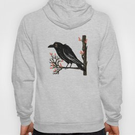 Raven On A Cold And Rainy Day Hoody