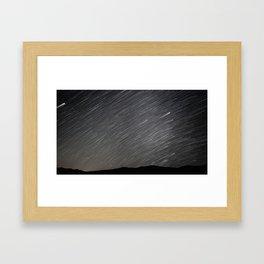 Death Valley Star Trails Framed Art Print