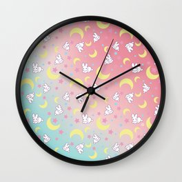 Sailor Moon Bunny's Pattern Wall Clock