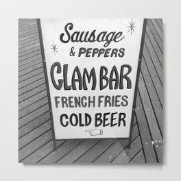 Vintage Hand-Painted Sign, Coney Island Metal Print